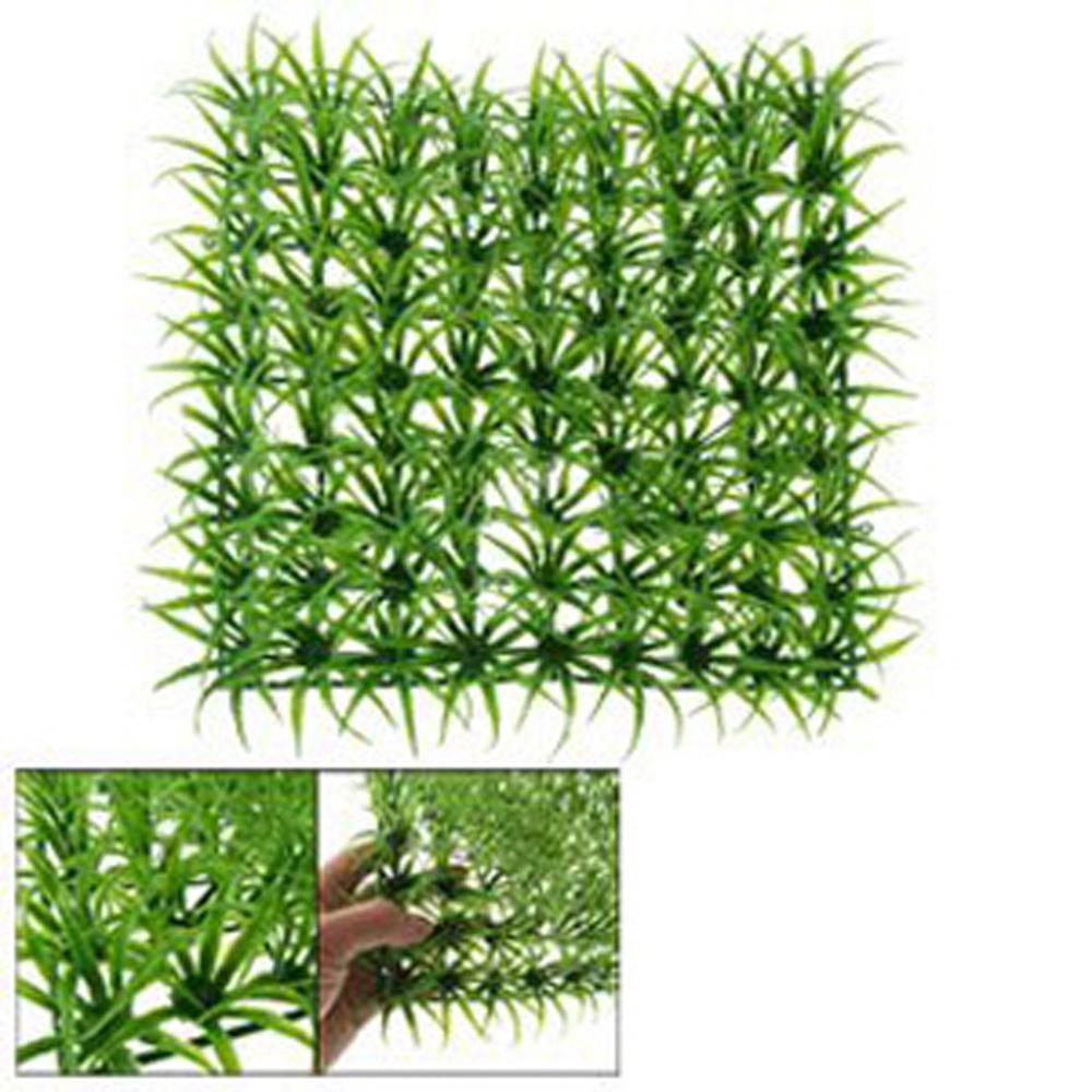 Green Spring Lawn Plastic Grass Rug Mat For Aquarium Fish