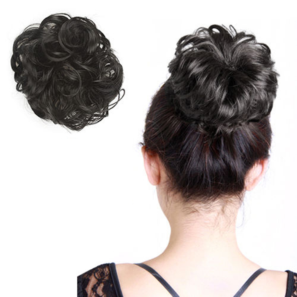 M5 curly scrunchie hair extension ponytail hair piece updo - Chignon original ...