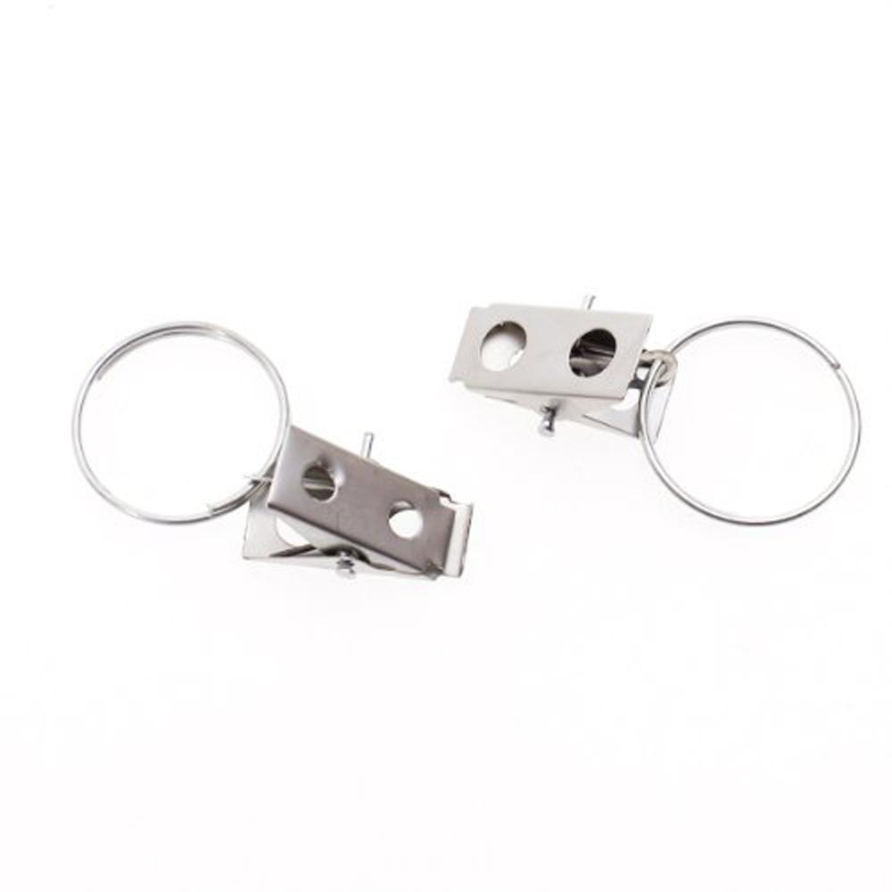 20pcs curtain rod clip rings drapery clips sm practical curtain rings ...