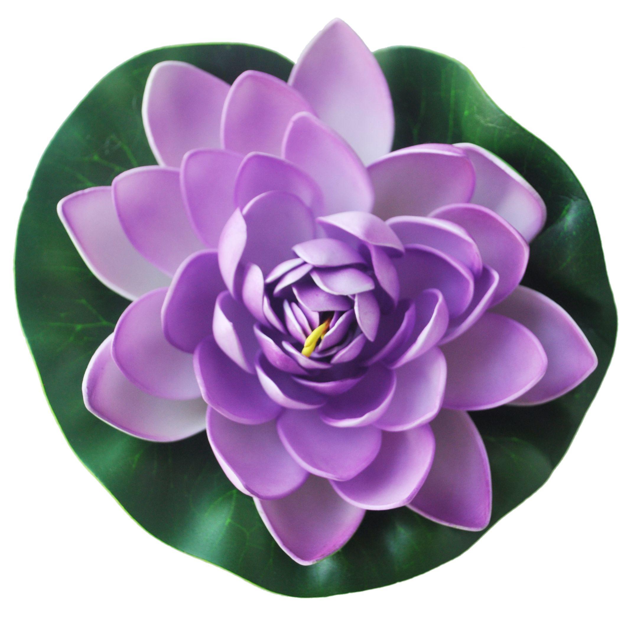 schwimmende lila lotus dekoration fuer aquarium. Black Bedroom Furniture Sets. Home Design Ideas