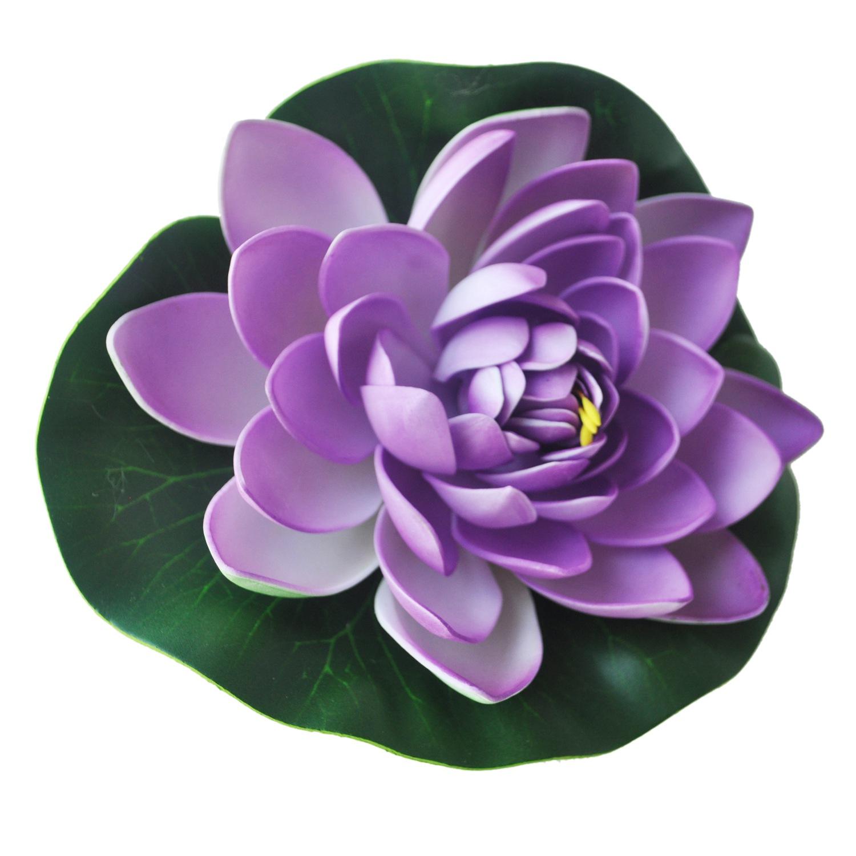 706h3 Schwimmende Lila Lotus Dekoration Fuer Aquarium