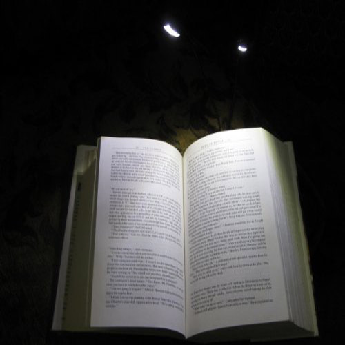 2 led buchlampe leselampe klemmleuchte klemm buch lampe et ebay. Black Bedroom Furniture Sets. Home Design Ideas