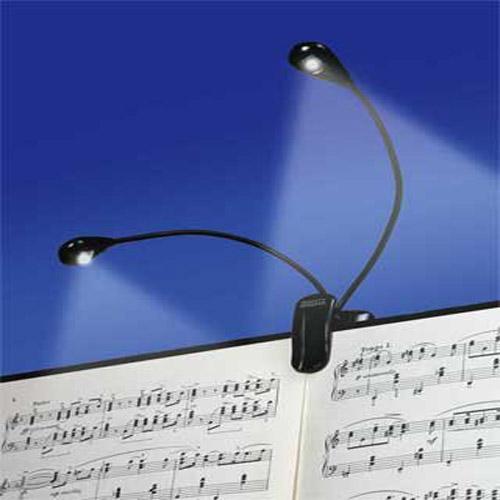 2x 2 led buchlampe leselampe klemmleuchte klemm buch lampe et ebay. Black Bedroom Furniture Sets. Home Design Ideas