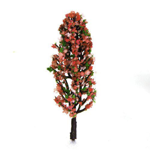 3,3 Zoll Gruen Zug Set Scenery Landschaftsmodell Baum mit Pfirsich Blumen M B2D7
