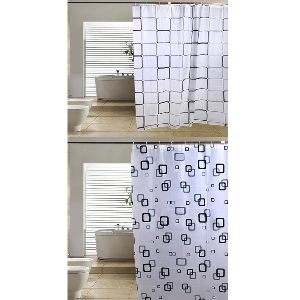 modern badezimmer sitzwanne duschvorhang mit haken 180 x. Black Bedroom Furniture Sets. Home Design Ideas