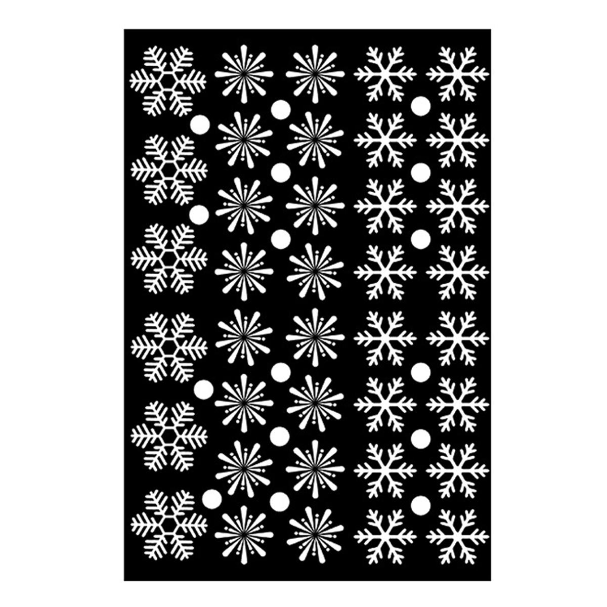 Наклейки на окно или стену в виде снежинок на Новый Год или Рождество