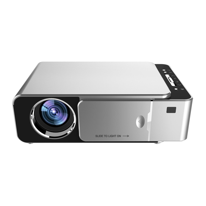 Проекторы Портативный HD мультимедийный светодиодный проектор HDMI VGA AV USB SD с дистанционным управлением EU вилка (Фото 1)