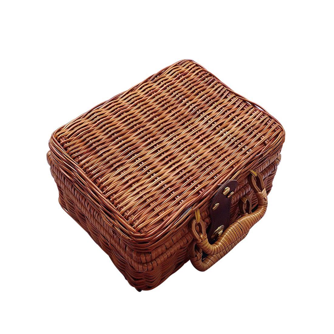 Чистая рука г-жи кантон г-жи Куш китайская литература искусство винтажной корзины бамбука путешествия в сумке для хранения реквизит