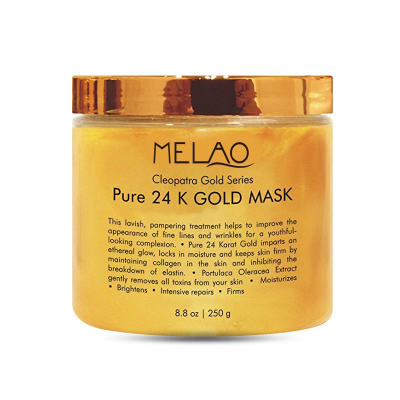 Здоровье и гигиена MELAO 24K Анти-возрастная золотая маска для лица против морщин и акне, 250 г (Фото 6)