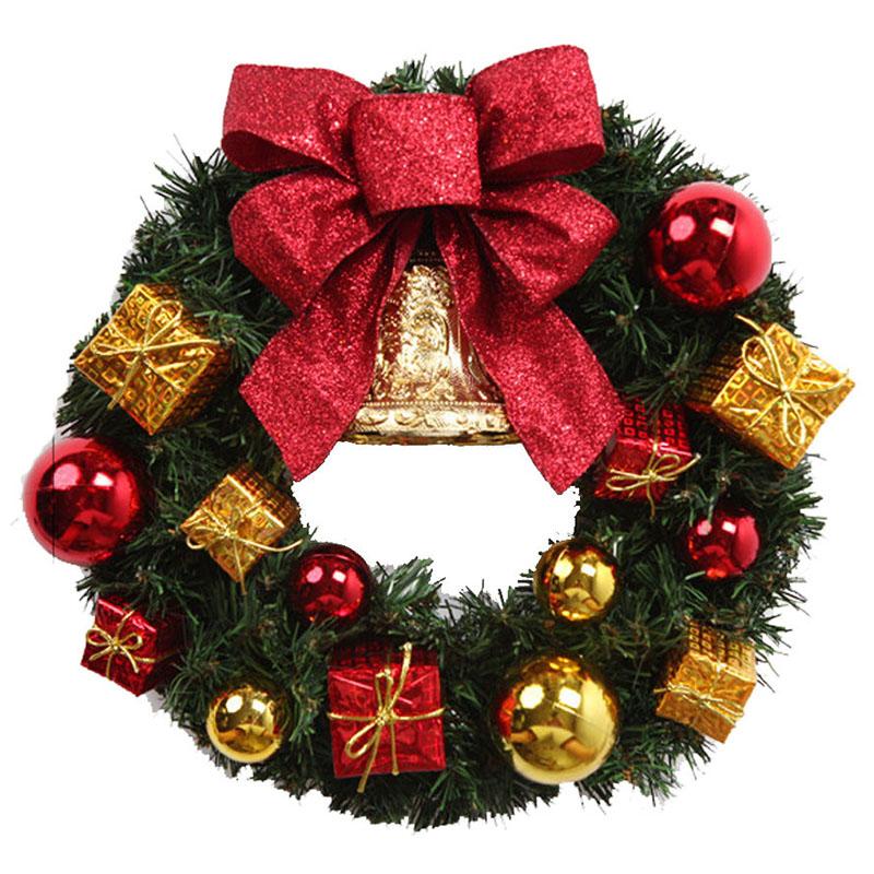 Рождественский декоративный венок на двери