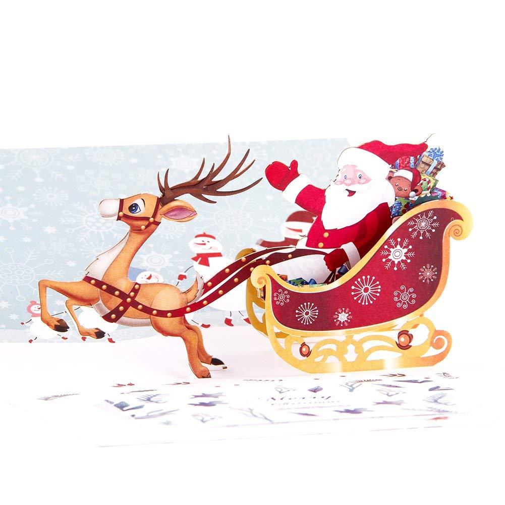 Поздравительная открытка на рождественские праздники 5шт