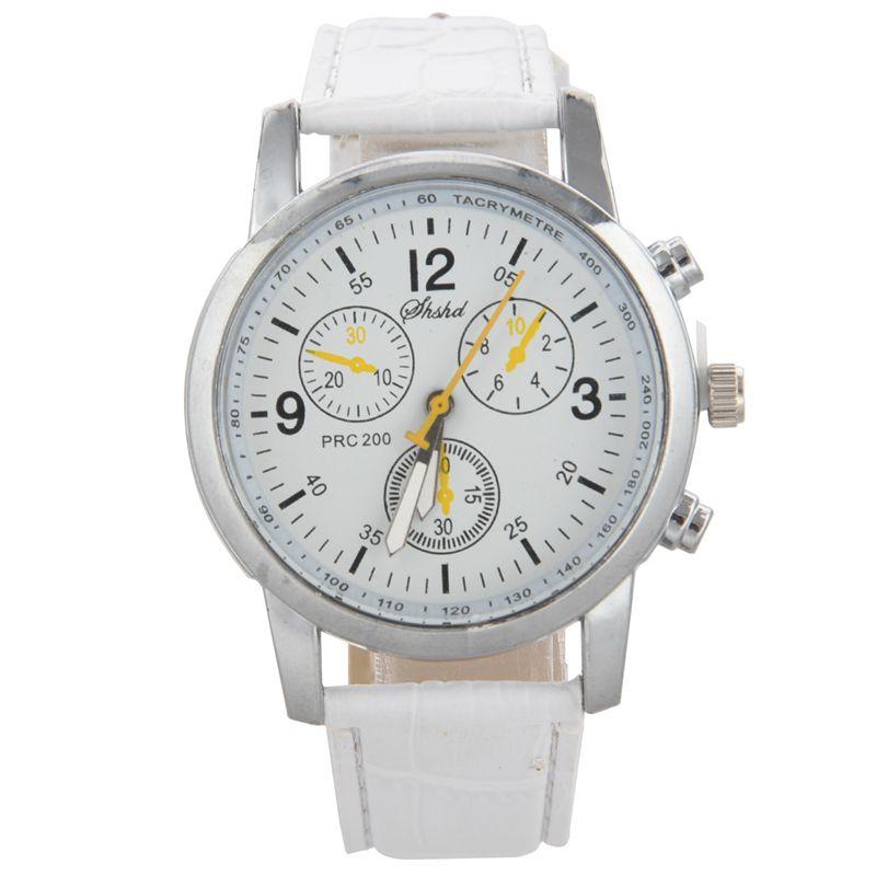 Uhren-Herren-Armbanduhr-Neue-Luxusmode-Krol-Muster-PU-Leder-Herren-Analog-Uh-SX