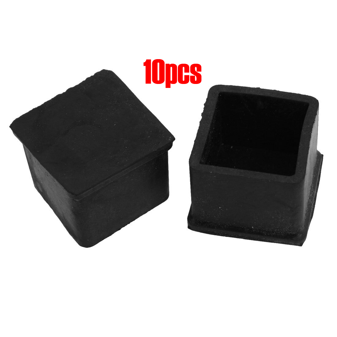 Patio Chair Feet Covers: 10 Pcs Black 30mm X 30mm Furniture Foot Protector Square