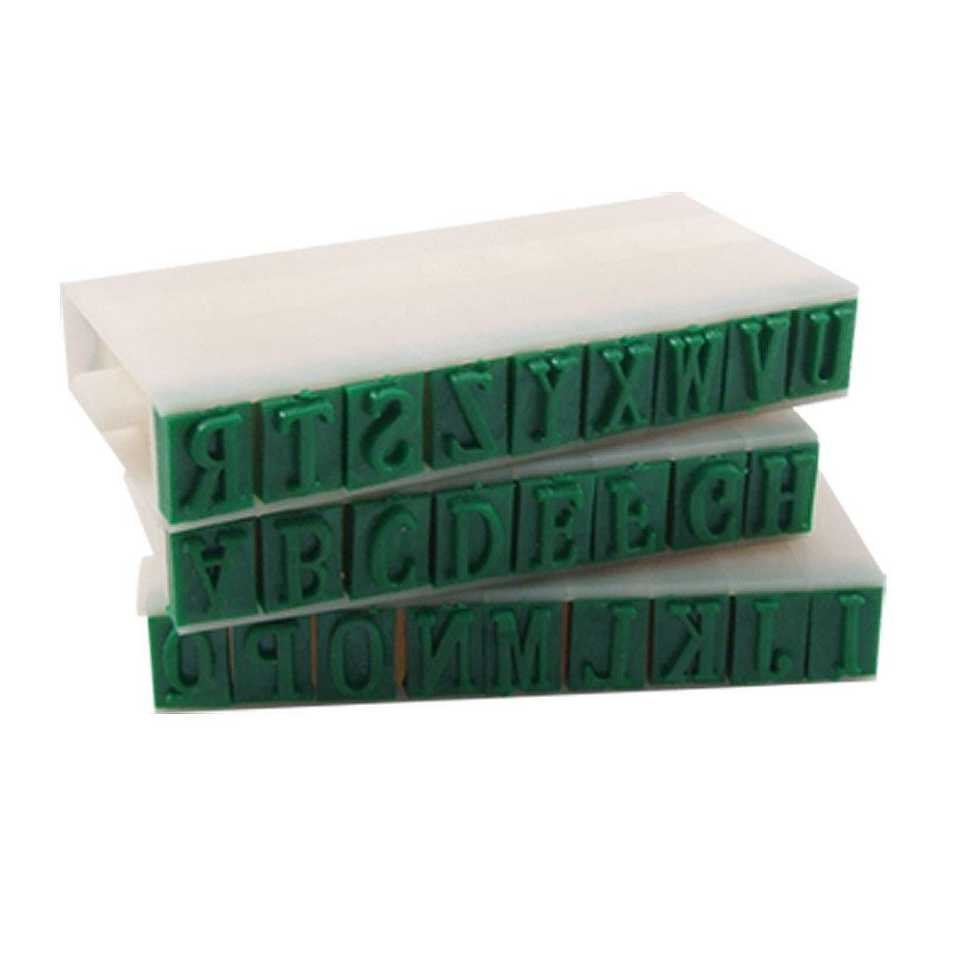 Blue 04 Length Letters Detachable 26 English Alphabet Stamp Set N3 888309001719