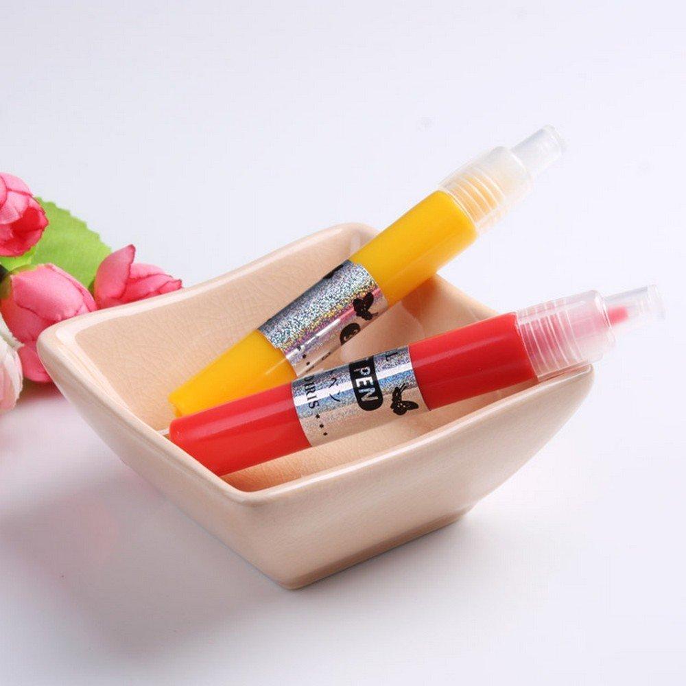 12 Color 3d Farbe Nagel Kunst Stift DIY Uv Gel Acryl Tipps Set Salon ...