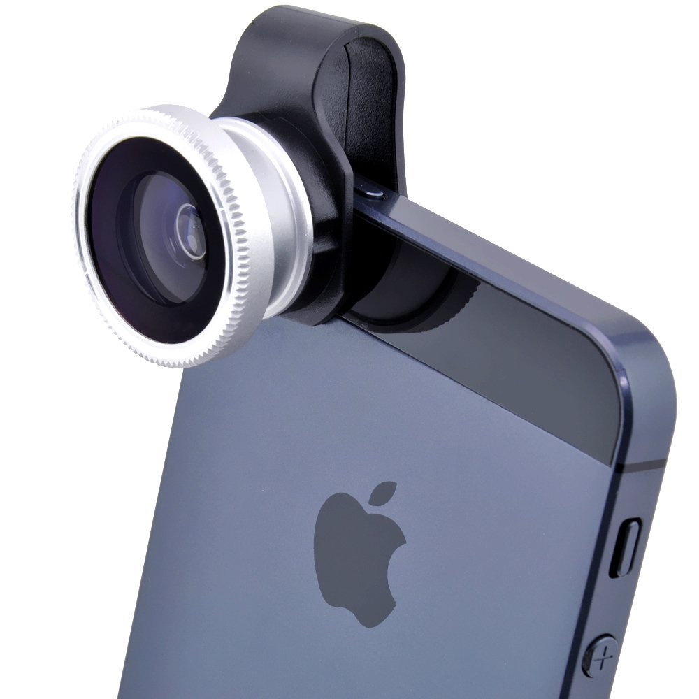 iphone 4 camera 2x 180癋ish eye detachable clip on lens cover for 10843