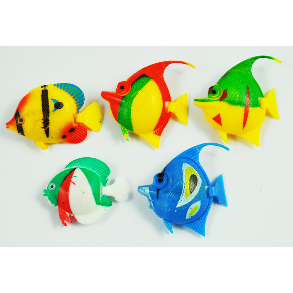 5pcs plastic floating tropical fishes ornament for for Order fish online