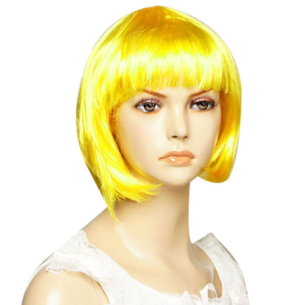 yellow hair style 3x yellow bob hair style costume 3634