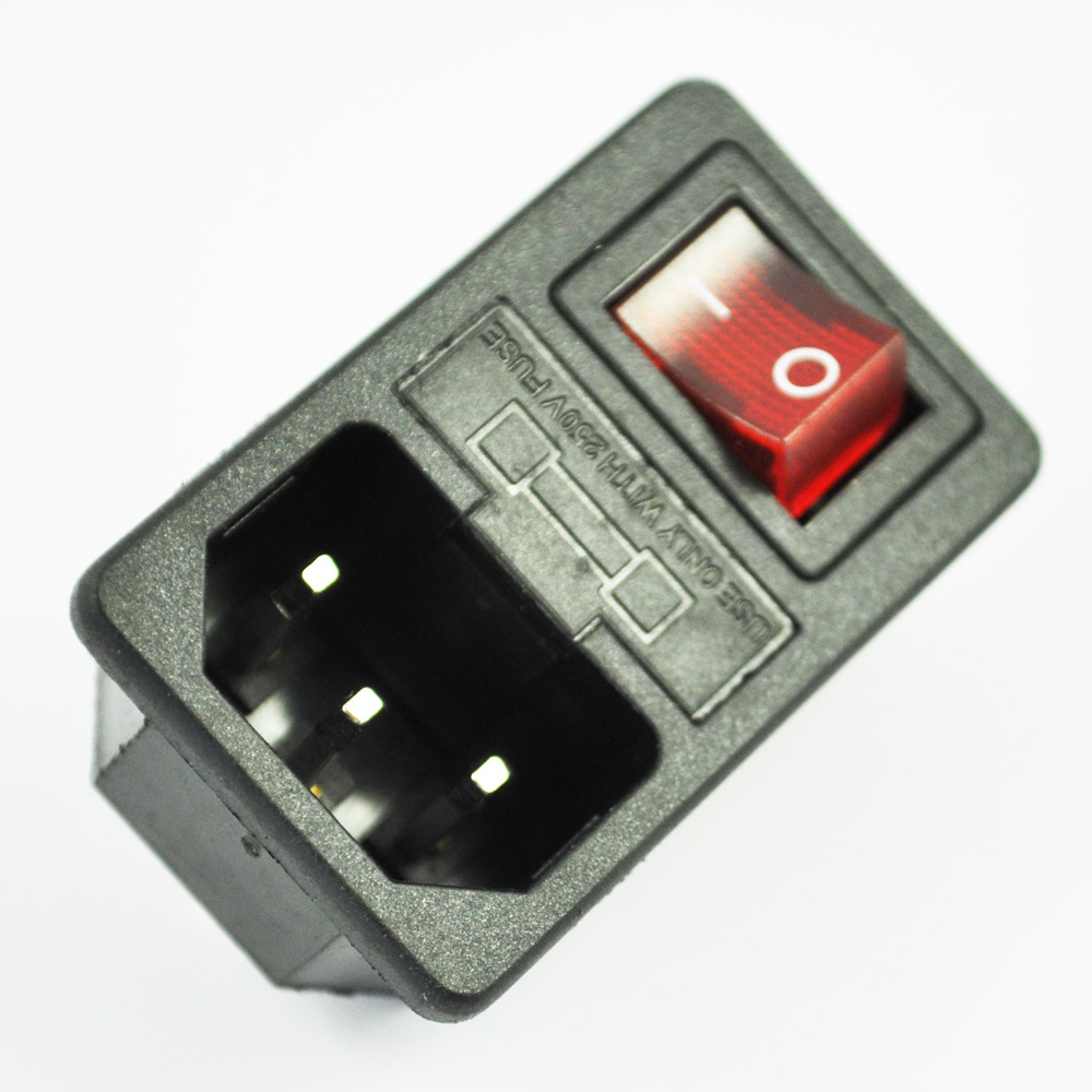 New Hot Sale Inlet Male Power Socket With Fuse Switch 10a