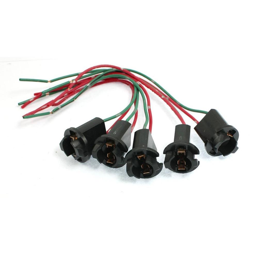 704q4 5 pcs car truck t10 dc 12v 194 led light bulb socket holder wire connector ebay. Black Bedroom Furniture Sets. Home Design Ideas