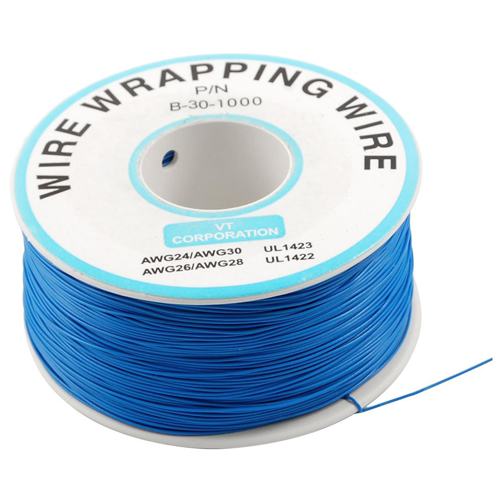 breadboard b 30 1000 tin plated copper wire wrapping 30awg cable 305m blue dt. Black Bedroom Furniture Sets. Home Design Ideas