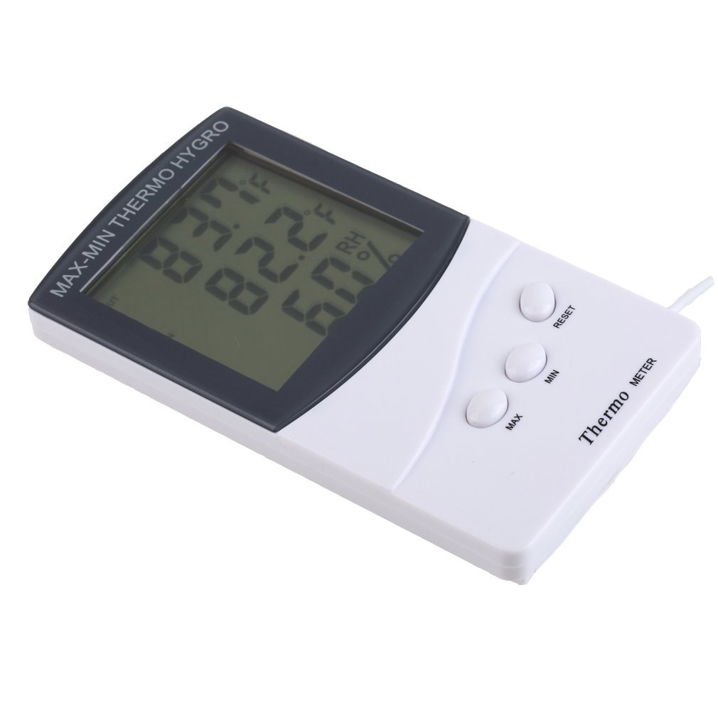 lcd innen aussen thermometer hygrometer temperatur luftfeuchtigkeit meter 709h3 ebay. Black Bedroom Furniture Sets. Home Design Ideas