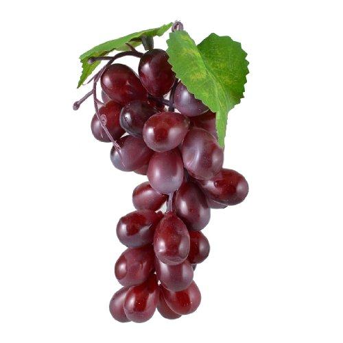 Grape Decor: Bunch Purple Plastic Artificial Grapes Cluster Fruit Desk