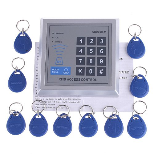 Rfid Access Control Door Access Entry Control Lock 10 Key Fobs Ed