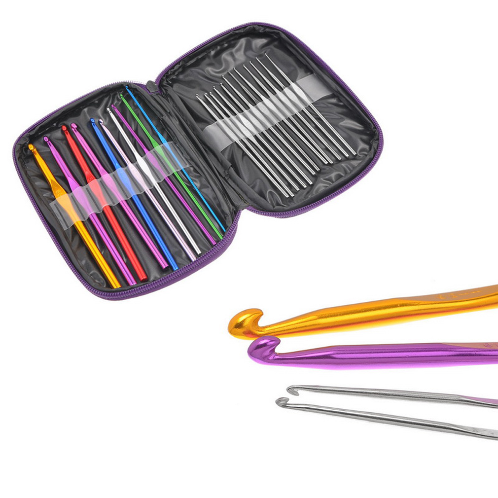 Knitting Needle Sets In Case : St crochet hook knitting needles set needle