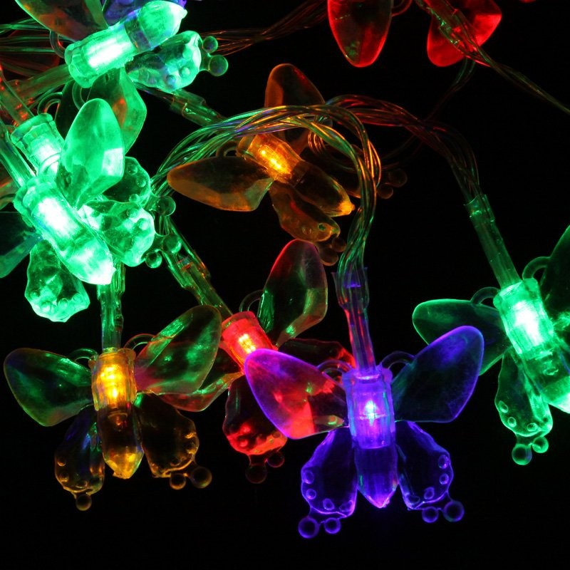 3M 30LEDs Butterfly String Lights Decoration (Colourful) HY eBay