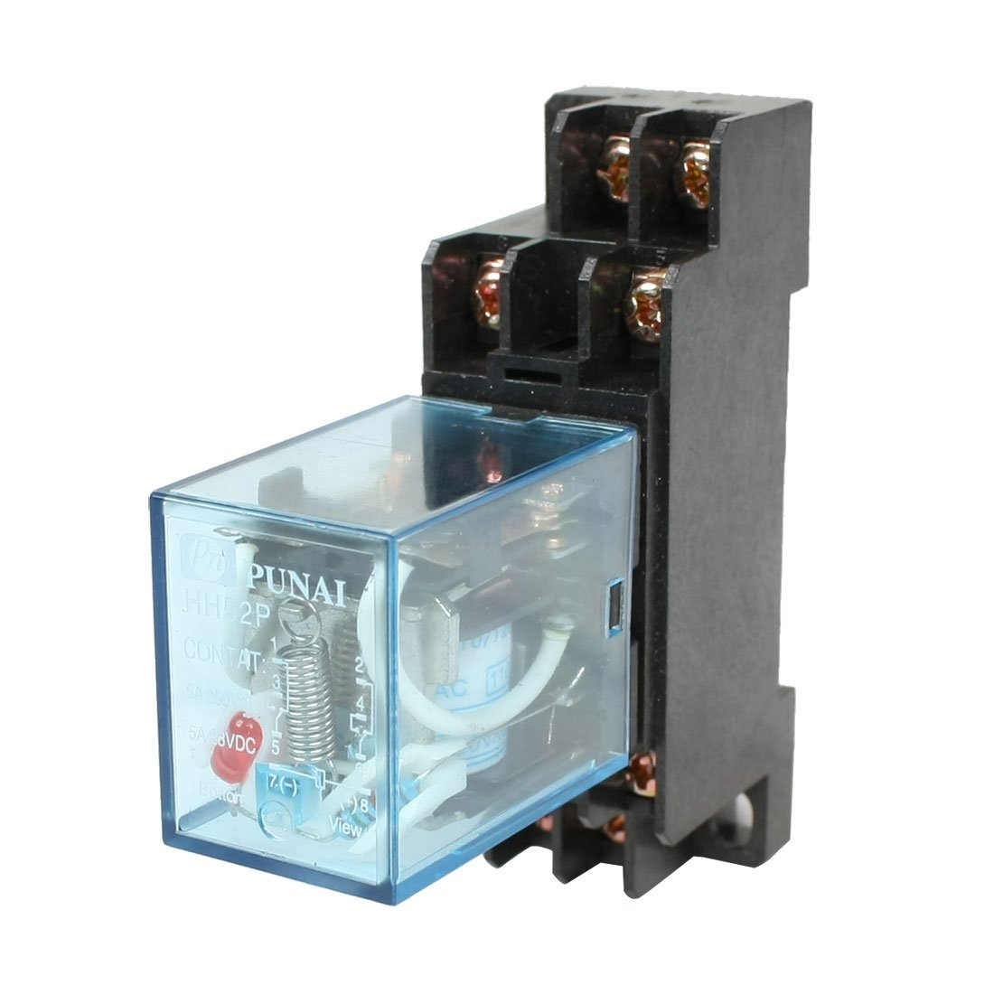 Hh52p 110  120vac Coil Dpdt Electromagnetic Power Relay Cp