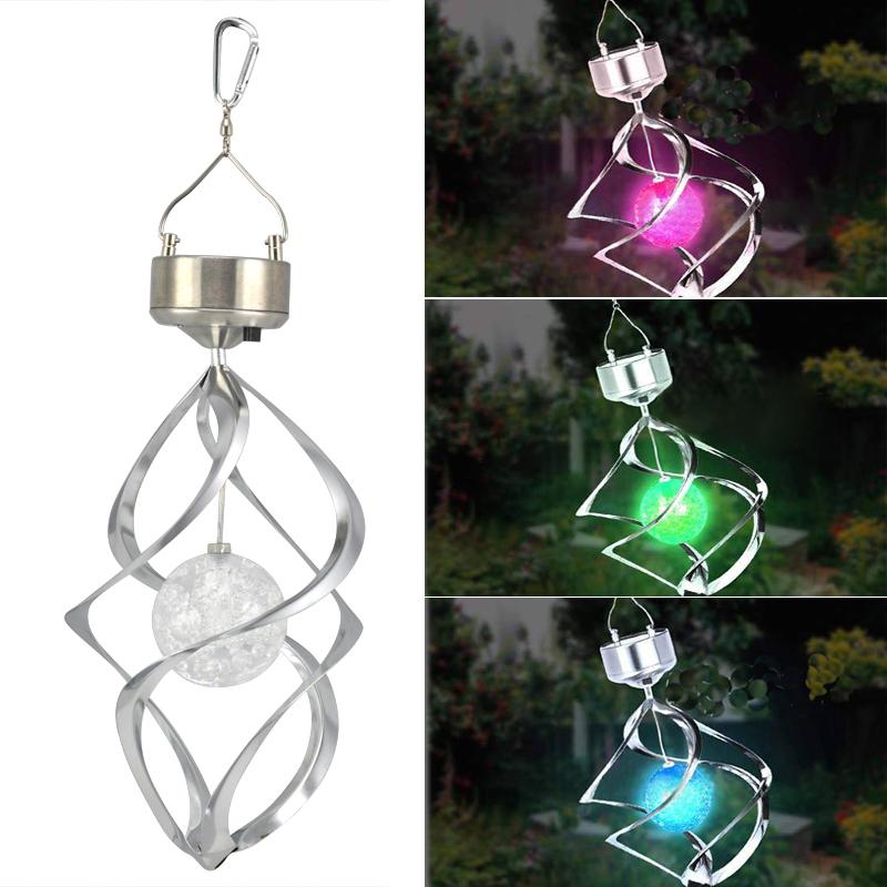 Lampe solaire spirale de jardin avec led en lumiere de changement de couleur wt ebay for Lampe solaire jardin de couleur