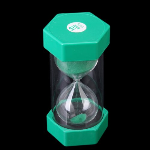 sicherheit fashion sanduhr 10 minuten sand timer gr n de ebay. Black Bedroom Furniture Sets. Home Design Ideas