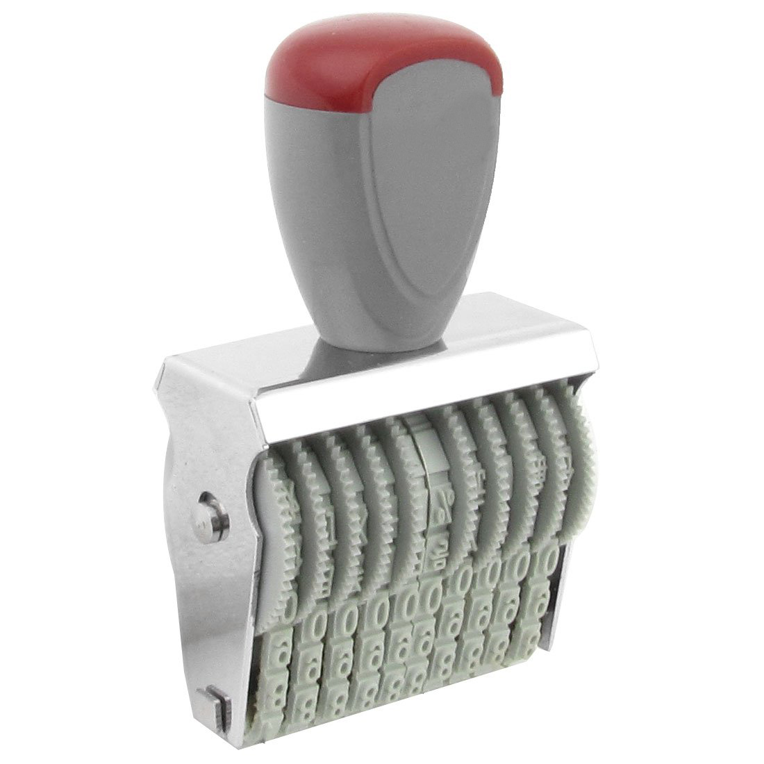 5x bureau 10 bande caoutchouc 0 9 numeros numerotation sceau gris rouge wt ebay. Black Bedroom Furniture Sets. Home Design Ideas