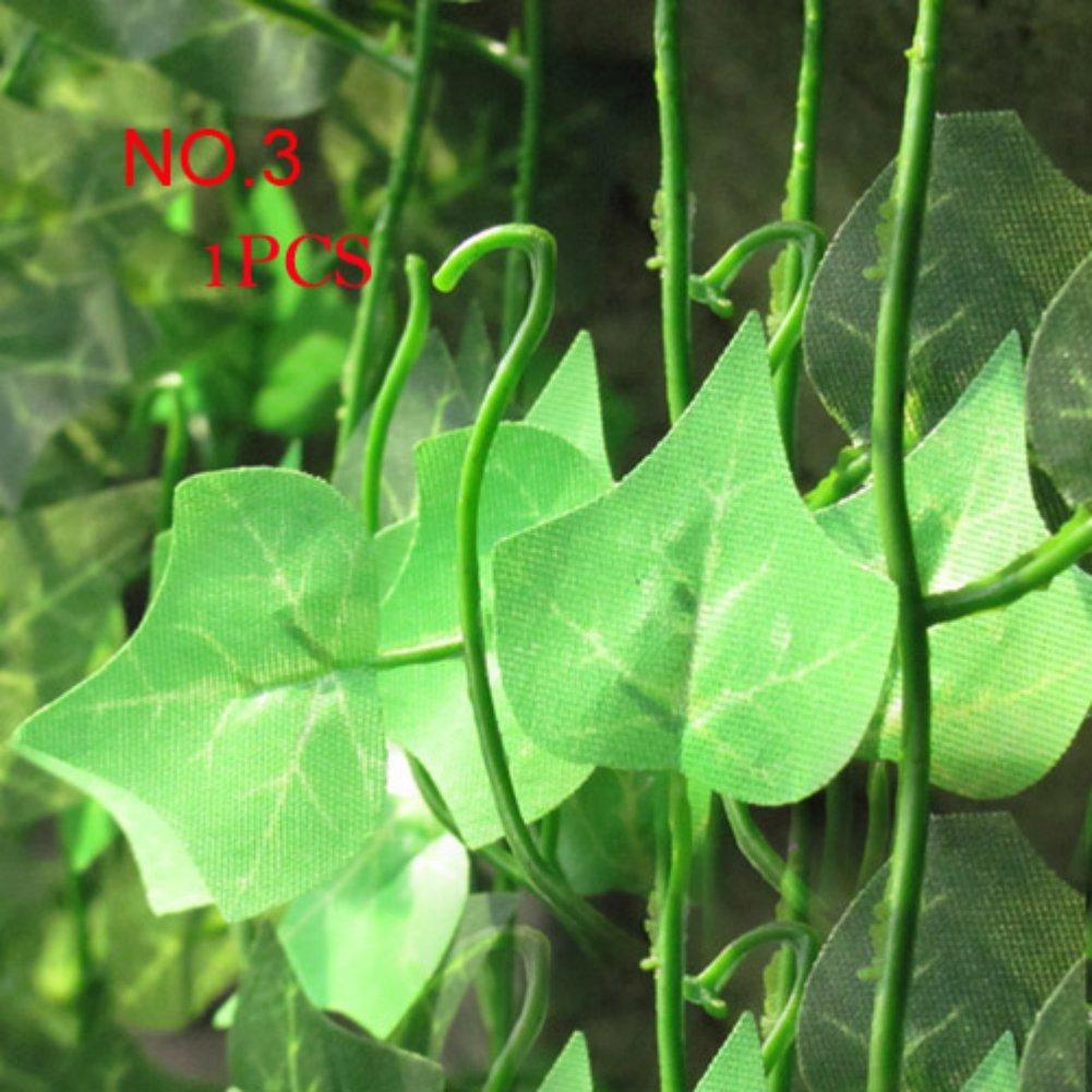 Faux plantes vert vigne feuilles de lierre fleur for Plante 5 feuilles