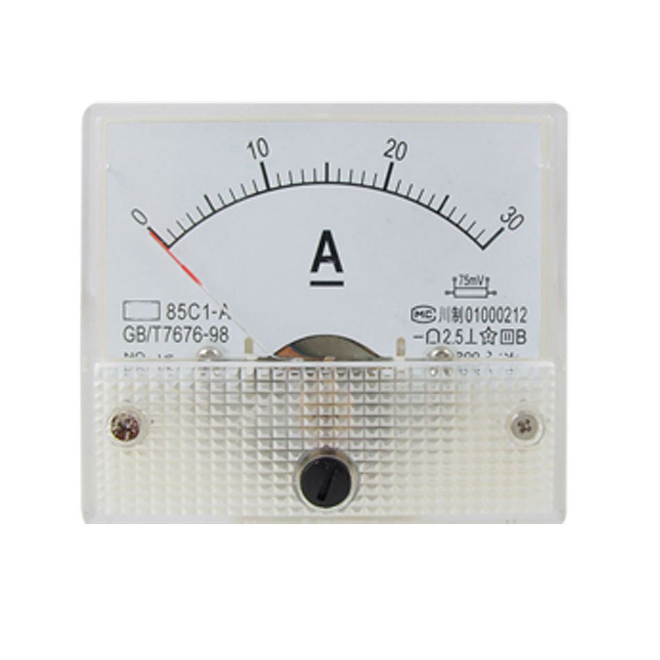 85c1 Analog Current Panel Meter Dc 30a Amp Ammeter Lw Szus