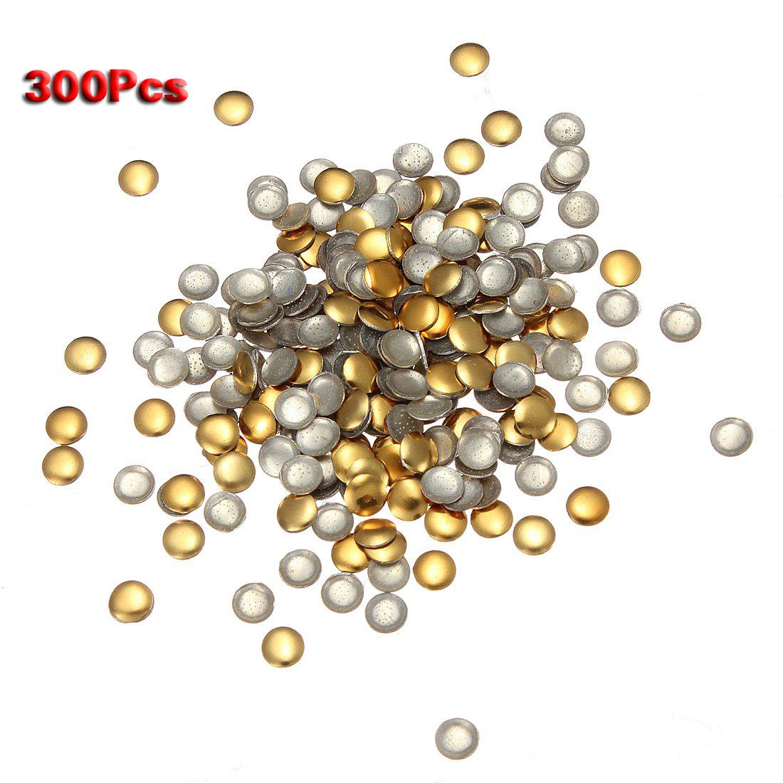 300 X 3d Metalllegierung Nagel-Kunst Spitzen Design DIY Gold+Silber Rund O5J1 4894462089613   EBay