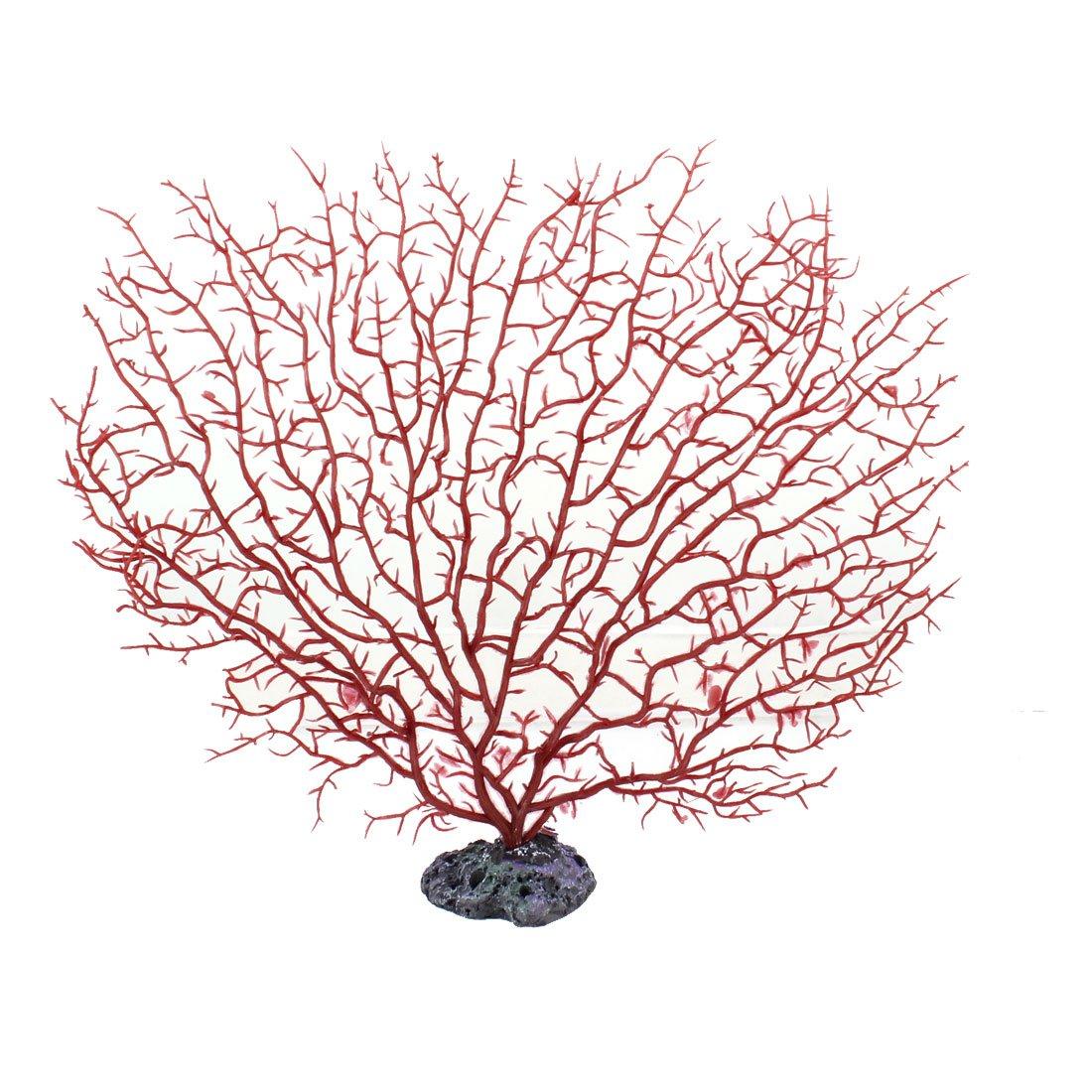 2x plastique rouge corail decoration pour aquarium for Decoration pour aquarium poisson rouge