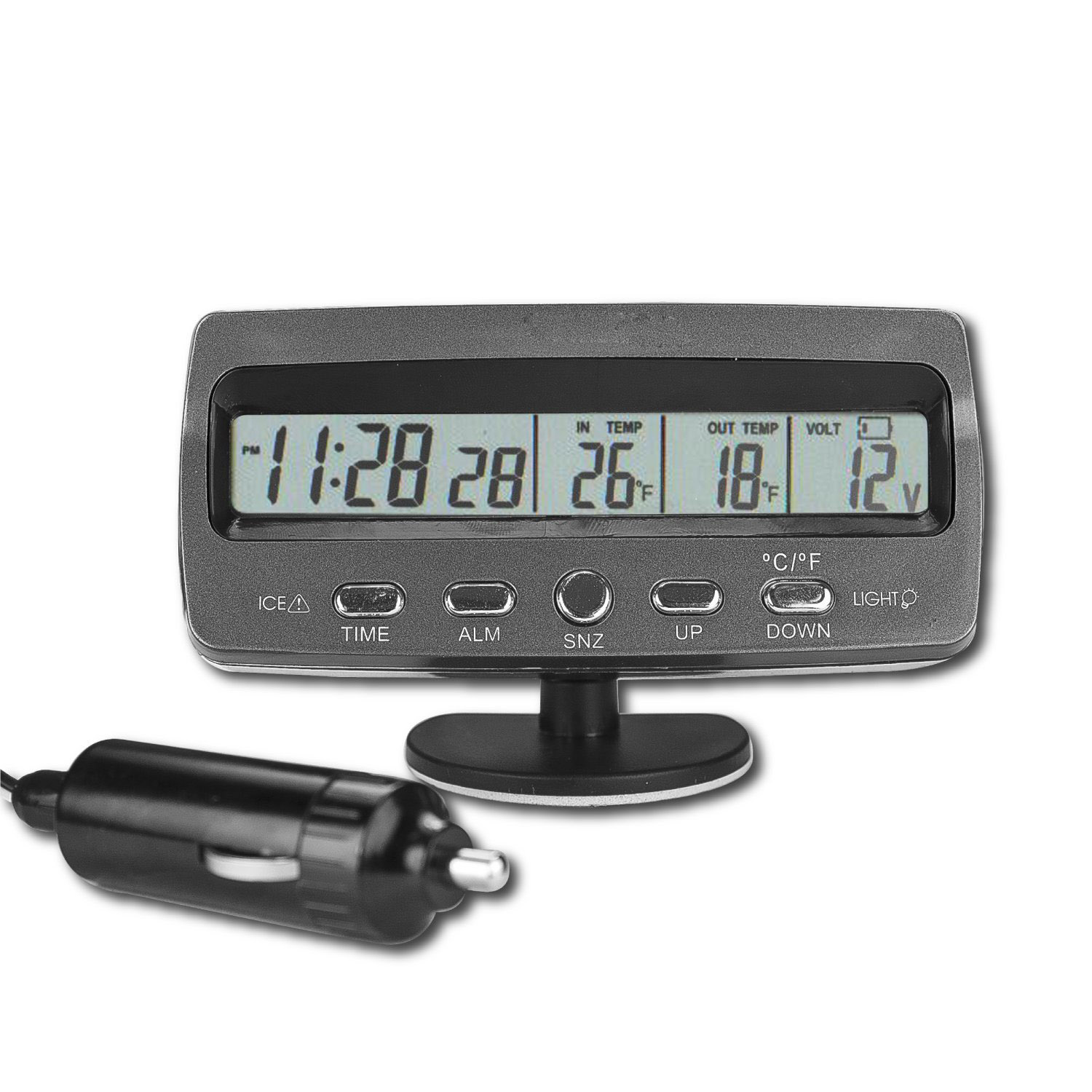 Auto Battery Monitor : Car voltmeter voltage monitor battery tester alarm