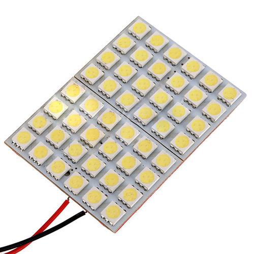 4X 48 5050SMD LED Panel T10 BA9S Dome Festoon Adapter Light Lamp Bulb BF