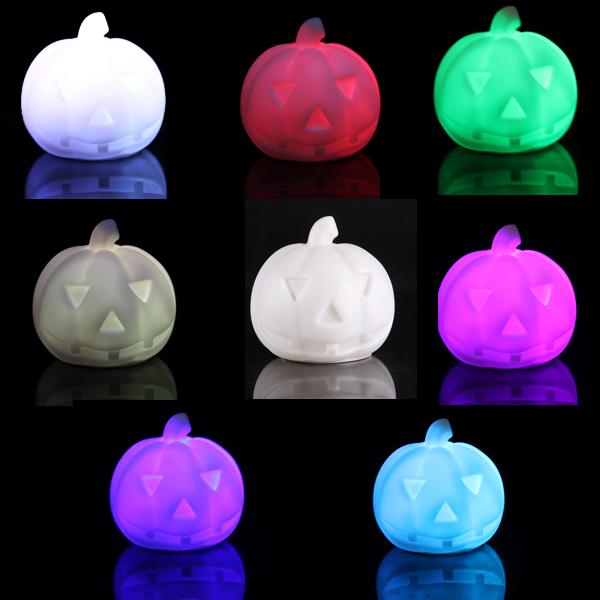 Deko ebay gebrauchte schlafzimmer : 3tlg 7 Farbwechsel LED-Nachtlicht-Lampe Kuerbis Halloween ...