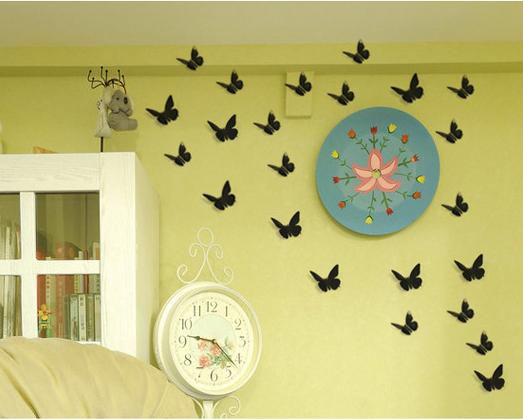 autocollant nouveau 3d diy mur papillon decoration d interieur chambre1 wt ebay