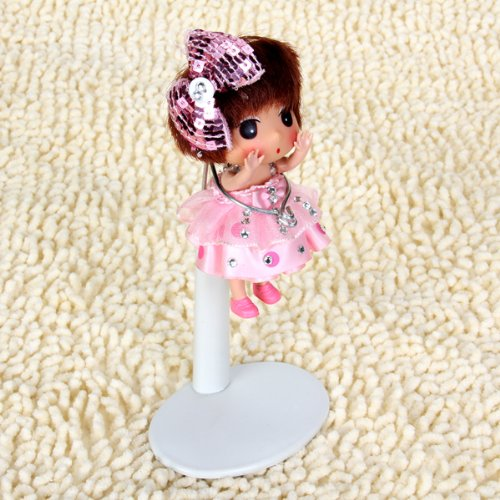 White Adjustable Doll Stand 4.5-5.7 Inch DT