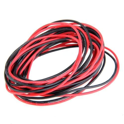2x 3m 20 gauge awg silicone rubber wire cable red black flexible ad payment greentooth Images