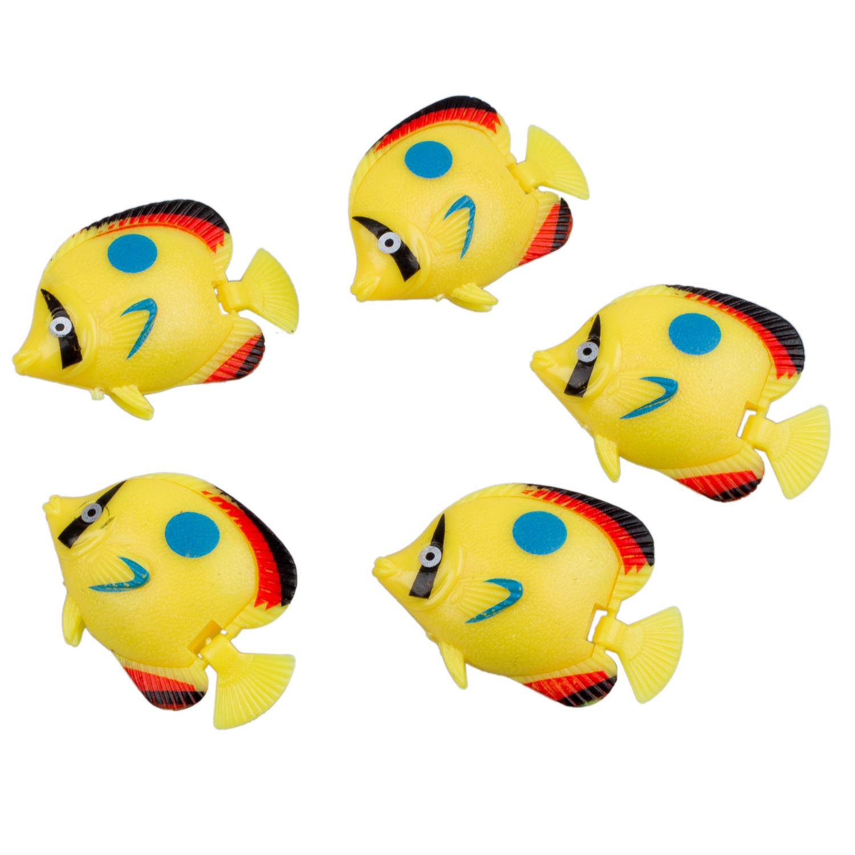 5 pieces mini floating plastic fish aquarium ornament e2t1 for Small plastic fish