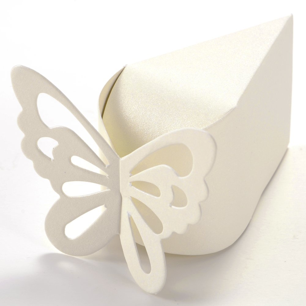 50x Boite A Dragee Papillon Decoration Mariage Bapteme