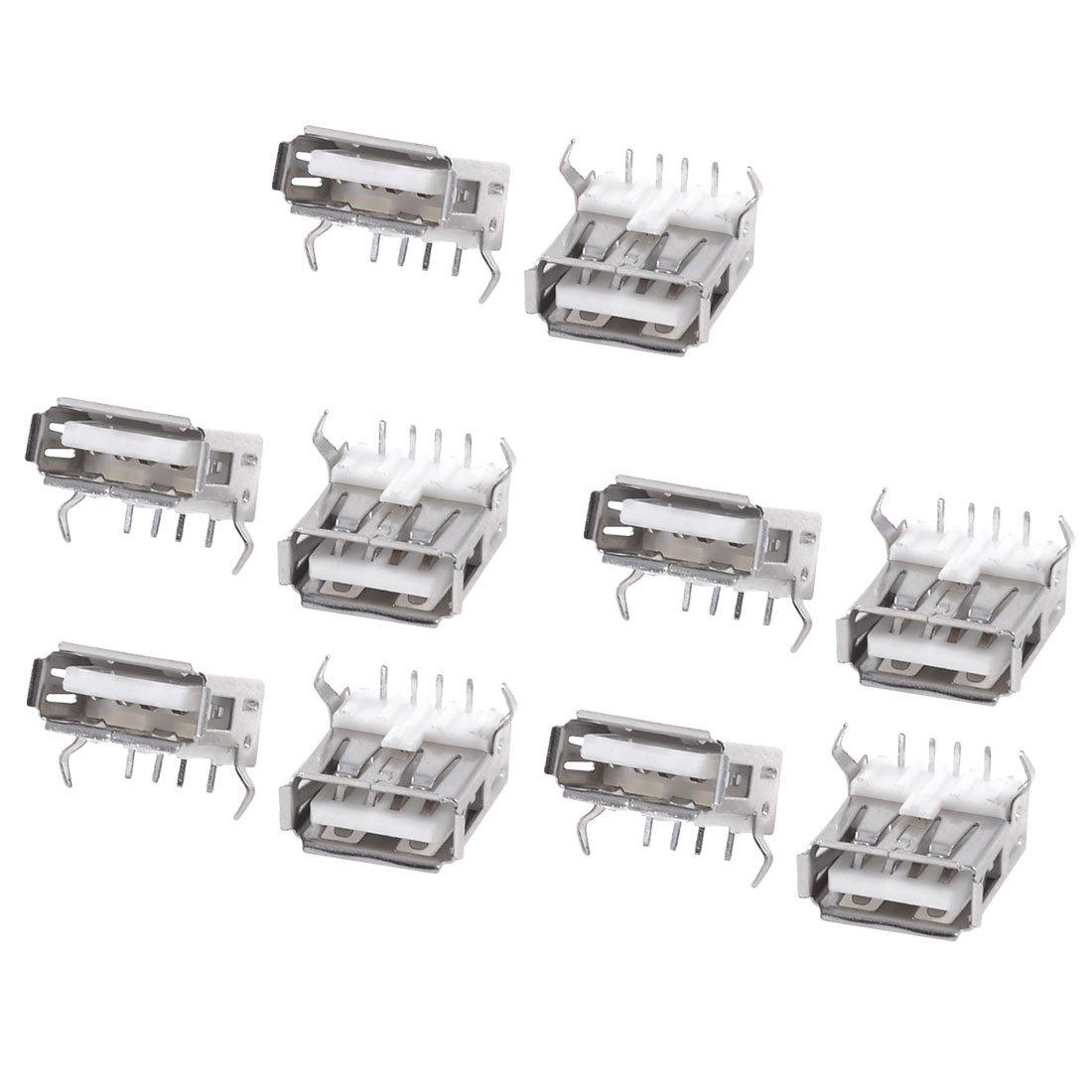 10pcs usb type a standard port female solder jacks connector b3