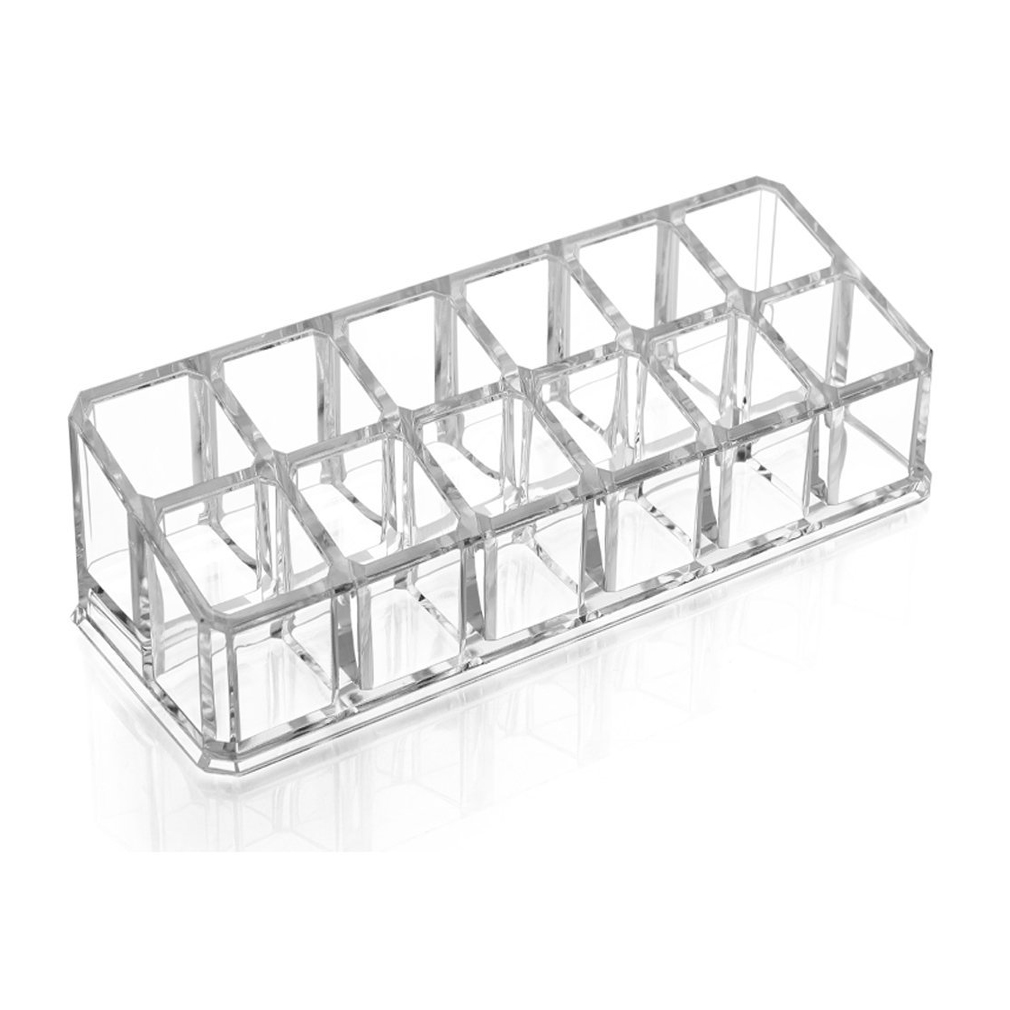 Clear Acrylic Lipstick Holder Display Stand Cosmetic Organizer Makeup Case F1O6