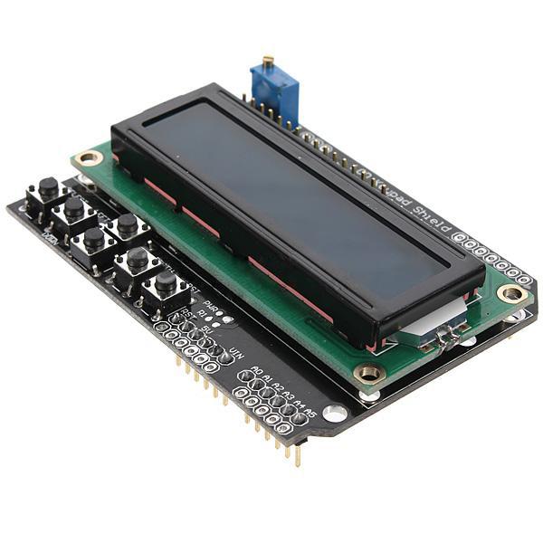 Keypad shield board blue backlight for arduino robot lcd