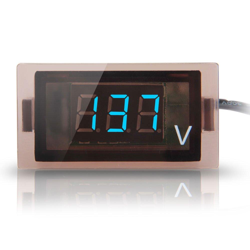 Digital Display Panel : Blue led display digital voltmeter meter voltage